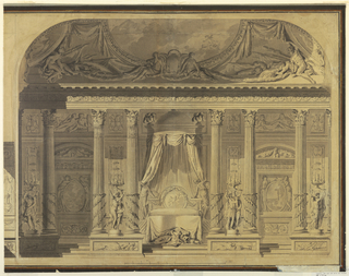 Drawing, Design for a Bedroom, Hotel de Mailly-Nesle, Paris