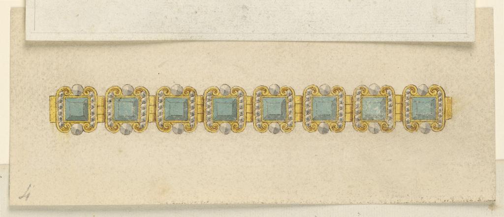 Drawing, Design for a Bracelet, 1800–1825