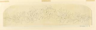 Drawing, Design for fillet, 1840s