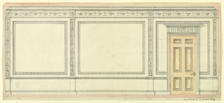 Drawing, Design for a Wall Elevation, before 1906