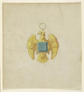 Drawing, Design for a pendant, 1800–1825