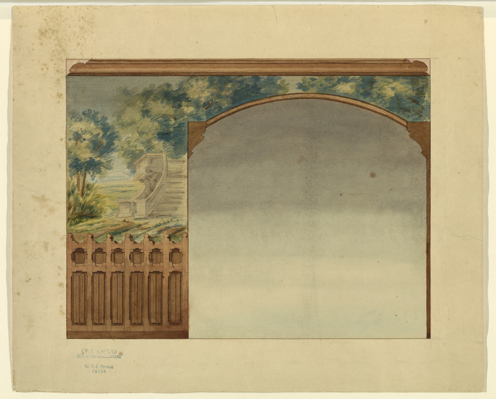 Drawing, Design for Portion of Stairway in Chateau-sur-Mer, Newport, Rhode Island
