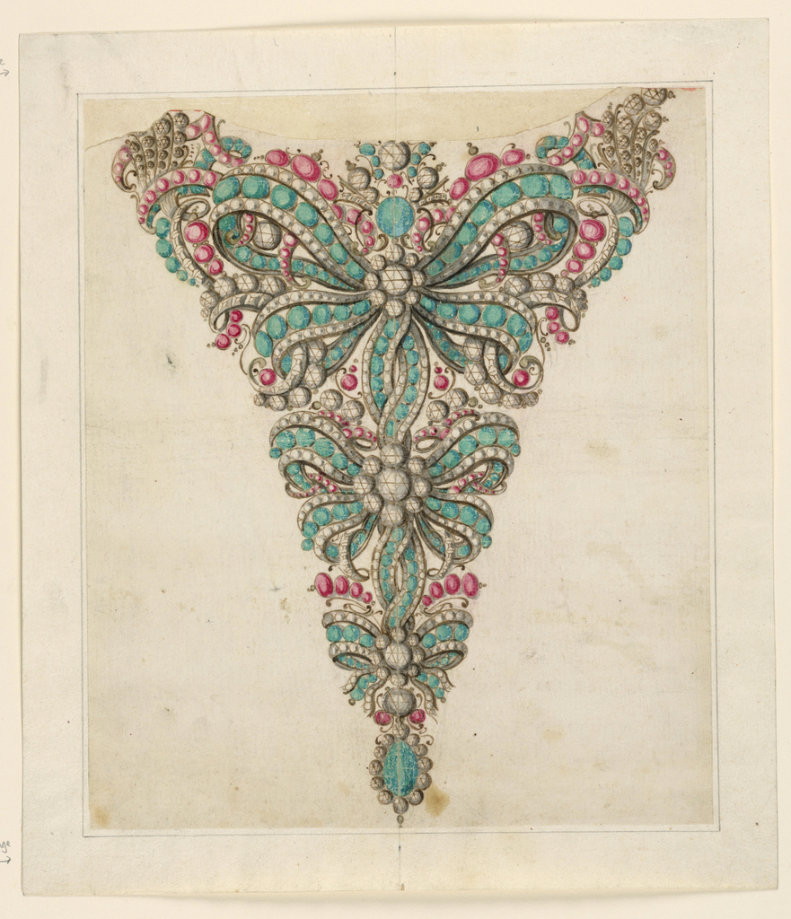 Drawing, Design for a Stomacher