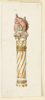 Drawing, Four handles (Imitation of 1770-1790 France), 20th century