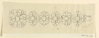 Drawing, Design for a bracelet
