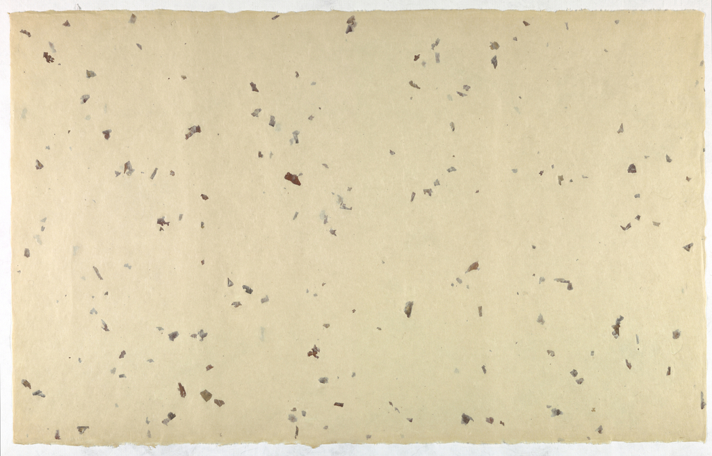 Decorated Paper, off-white with leaves, ca. 1940