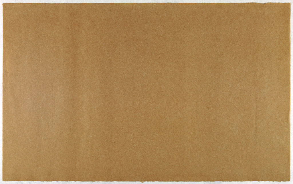 Decorated Paper, light brown opaque, ca. 1940