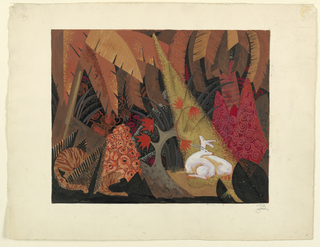 Drawing, Design for a Mural or Screen, 20th century