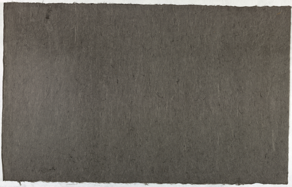 Decorated Paper, charcoal gray with fibre, ca. 1940