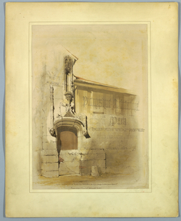 "Print, Title Page, ""Picturesque Architecture in Paris, Ghent, Antwerp, Rouen, etc."", 1839"
