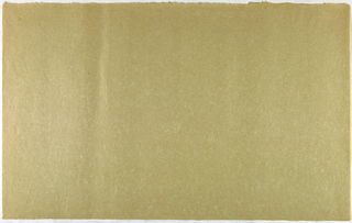Decorated Paper, tan with fibre, ca. 1940