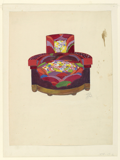 Drawing, Upholstered Armchair