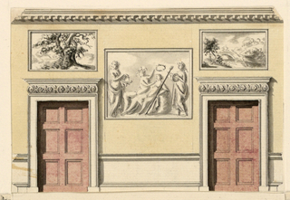 Drawing, Side Wall Elevation, 1818–22