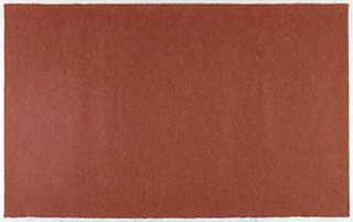 Decorated Paper, brick red opaque, ca. 1940