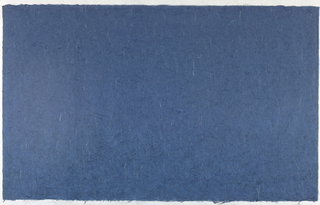 Decorated Paper, blue with fibre, ca. 1940