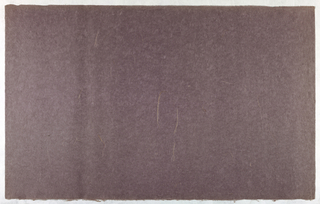 Decorated Paper, purple with straw, ca. 1940