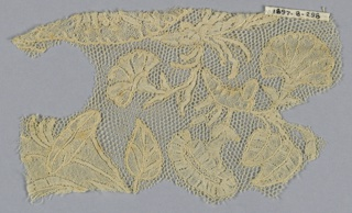 Fragment of Brussels-type bobbin lace.