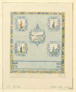 Drawing, Wall Decoration, Blue (South) Drawing Room