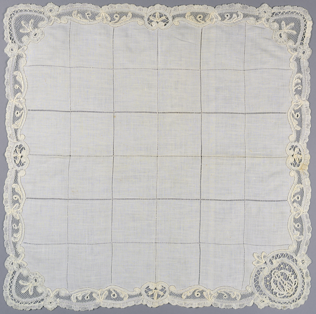Bobbin & needle lace napkin
