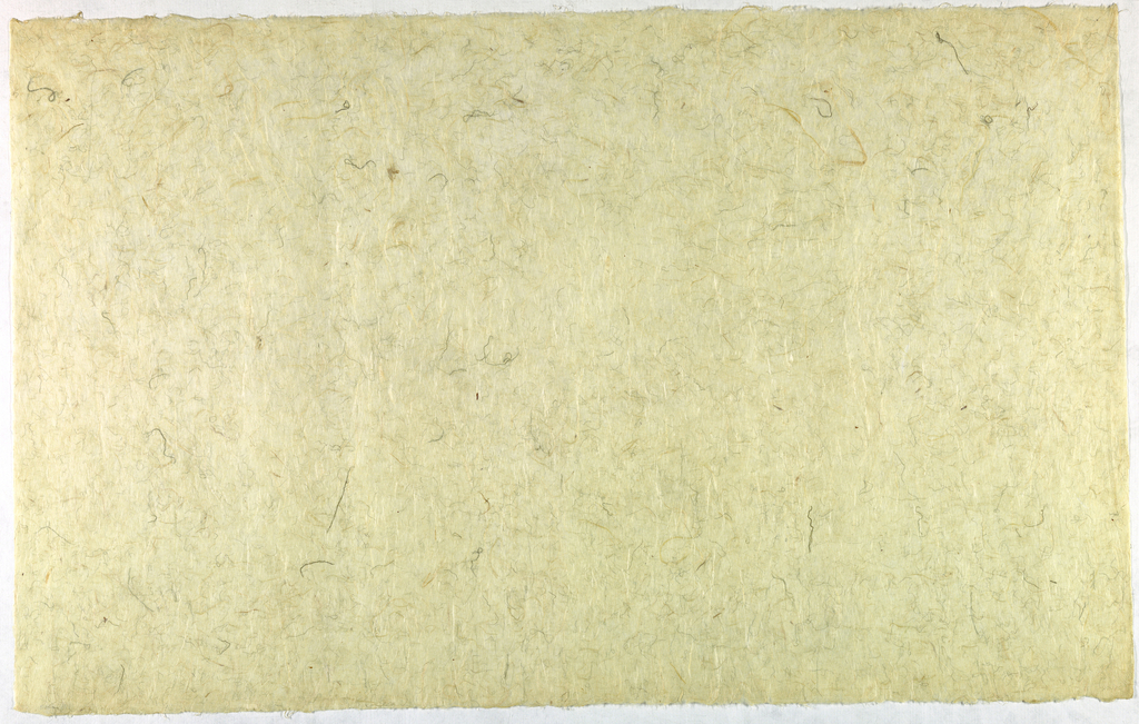 Decorated Paper, off-white with thread and, ca. 1940