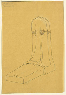 Drawing, Design for a Tombstone