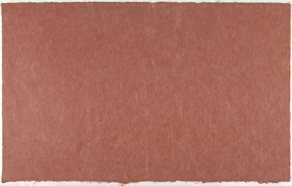Decorated Paper, brick red with fibre, ca. 1940