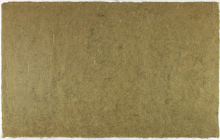 Decorated Paper, olive green with fibre, ca. 1940