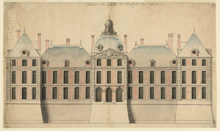 Drawing, The Rear Elevation of the Chateau de Boufflers, 1680