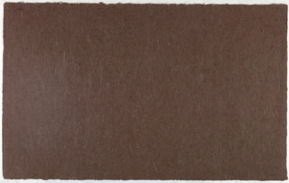 Decorated Paper, brown with fibre, ca. 1940