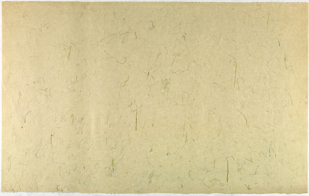 Decorated Paper, off-white with green gras, ca. 1940