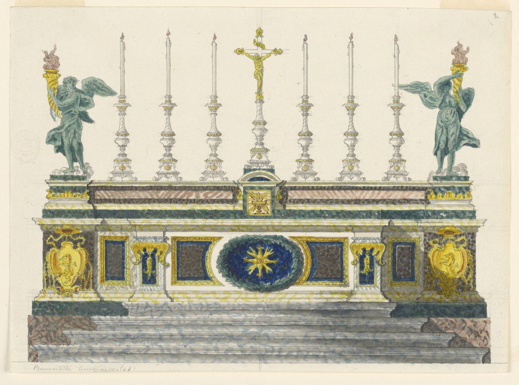 Drawing, Altar of Colored Marbles,