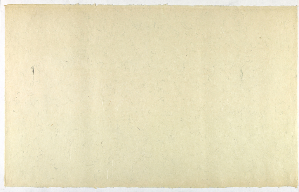 Decorated Paper, off-white with green thre, ca. 1940