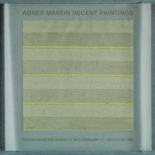 Flier, Agnes Martin/Recent Paintings