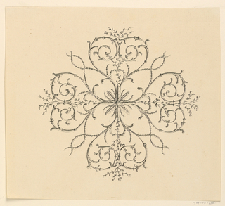 Drawing, Center Motif of Ceiling, 1815–22