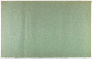 Decorated Paper, light blue-gray with stra, ca. 1940