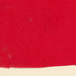 Paper sample in red.