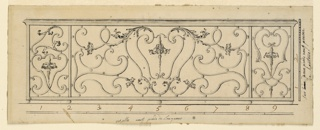 Drawing, Design for a Wrought Iron Balcony