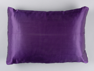 Satin pillow intended for pillow cover (1943-44-16-b).