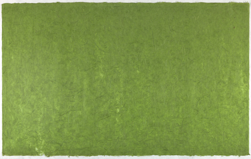 Decorated Paper, green with fibre, ca. 1940