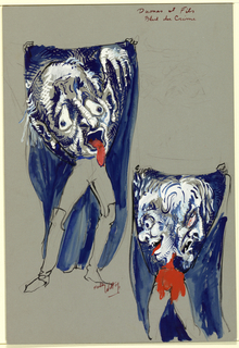 Drawing, Costume Design: Boulevard du Crime, for Dumas et Fils, 1967