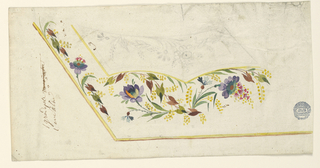 Drawing, Design for the Embroidery of a Man's Waistcoat