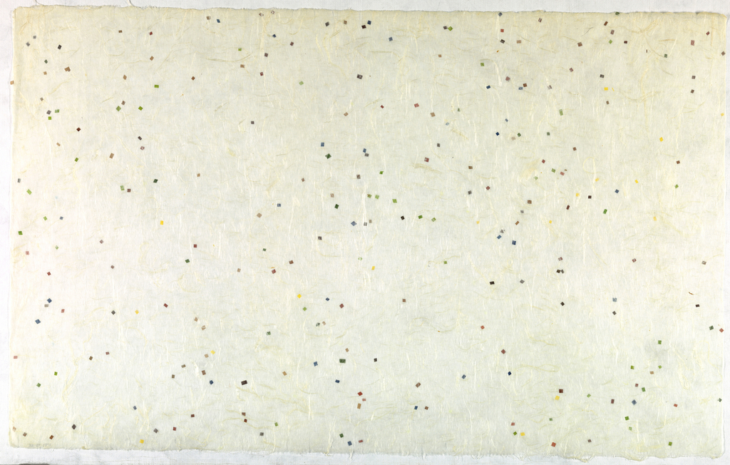 Decorated Paper, white with fibre and spec, ca. 1940
