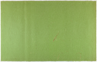 Decorated Paper, green with straw, ca. 1940