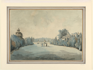 Drawing, View of a Garden with Pag, ca. 1760–75