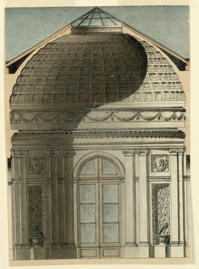 Drawing, Section of a Circular Pavilion