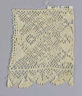 Fragment of Lille-style insertion and edging lace.