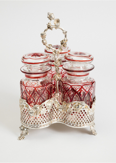 Cruet Set With Condiment Jars (England), ca. 1870
