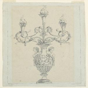 Drawing, Design for a Candelabrum