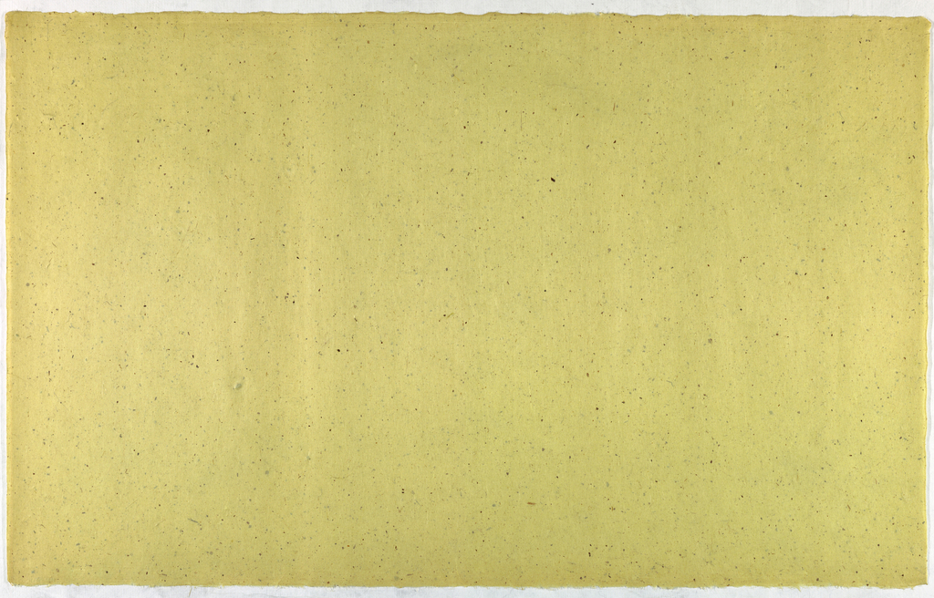 Decorated Paper, yellow with flecks, ca. 1940
