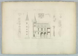 Print, Hotel Latremouille: Facade Sur La Cour No. III, 17th-18th century